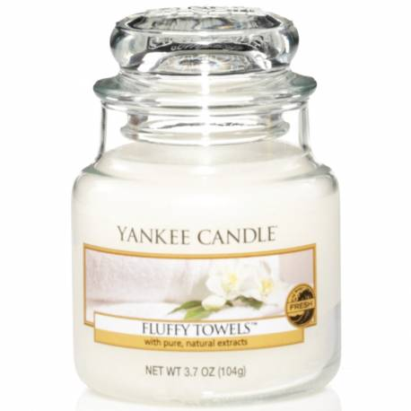 Yankee Candle Jar Glaskerze klein 104g Fluffy Towels