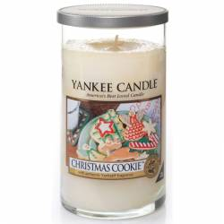 Yankee Candle Pillar Glaskerze mittel 340g Christmas Cookie
