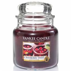 Yankee Candle Jar Glaskerze mittel 411g Cranberry Twist