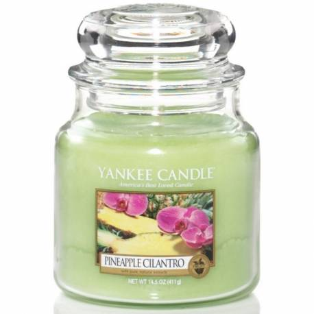 Yankee Candle Jar Glaskerze mittel 411g Pineapple Cilantro