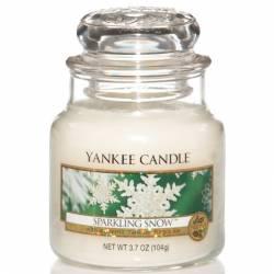 Yankee Candle Jar Glaskerze klein 104g Sparkling Snow