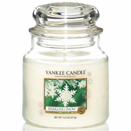 Yankee Candle Jar Glaskerze mittel 411g Sparkling Snow