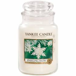 Yankee Candle Jar Glaskerze groß 623g Sparkling Snow