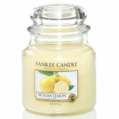 Yankee Candle Jar Glaskerze mittel 411g Sicilian Lemon