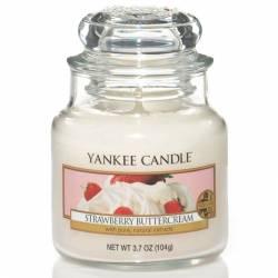 Yankee Candle Jar Glaskerze klein 104g Strawberry Buttercream