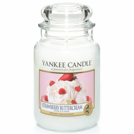 Yankee Candle Jar Glaskerze groß 623g Strawberry Buttercream