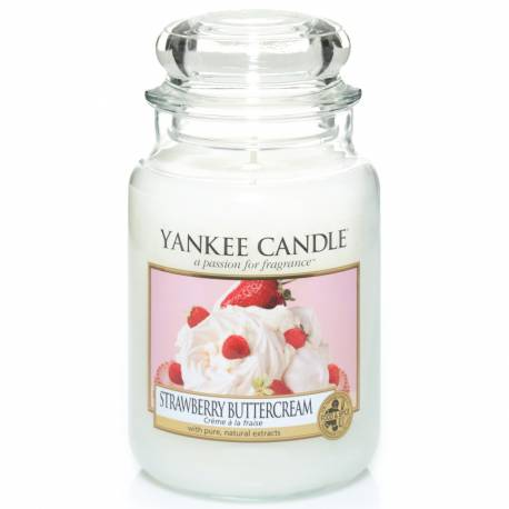 Yankee Candle Jar Glaskerze groß 623g Strawberry Buttercream