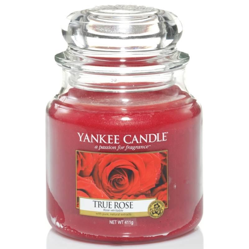 yankee candle housewarmer jar glaskerze mittel 411g true rose. Black Bedroom Furniture Sets. Home Design Ideas