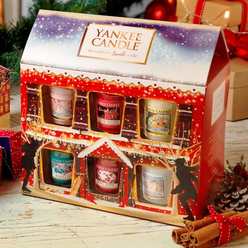 Yankee Candle Geschenk-Set Weihnachten Sampler Haus 12er
