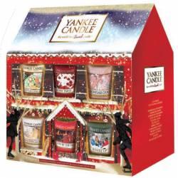 Yankee Candle Geschenk-Set Weihnachten Sampler / Votive Haus 12er