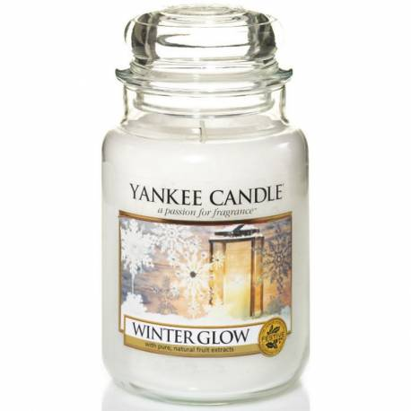 Yankee Candle Jar Glaskerze groß 623g Winter Glow