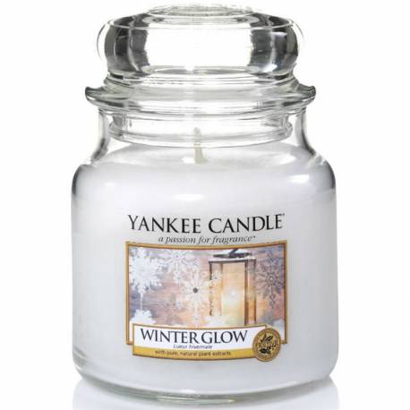 Yankee Candle Jar Glaskerze mittel 411g Winter Glow