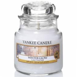 Yankee Candle Jar Glaskerze klein 104g Winter Glow