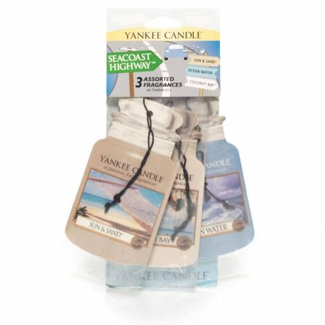 Yankee Candle Car Jar Varianten 3er Pack SEACOAST HIGHWAY