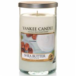 Yankee Candle Pillar Glaskerze mittel 340g Shea Butter