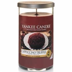 Yankee Candle Pillar Glaskerze mittel 340g Cappuccino Truffle