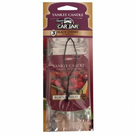 Yankee Candle Car Jar 3er Bonuspack Black Cherry