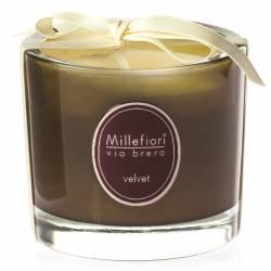 Velvet Millefiori Via Brera Glas Kerzen 180 g