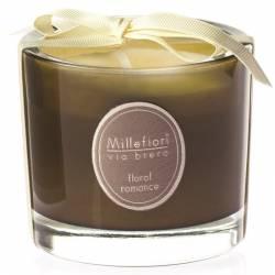 Floral Romance Millefiori Via Brera Glas Kerzen 180 g
