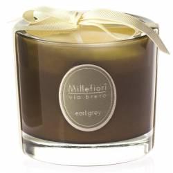Earl Grey Millefiori Via Brera Glas Kerzen 180 g