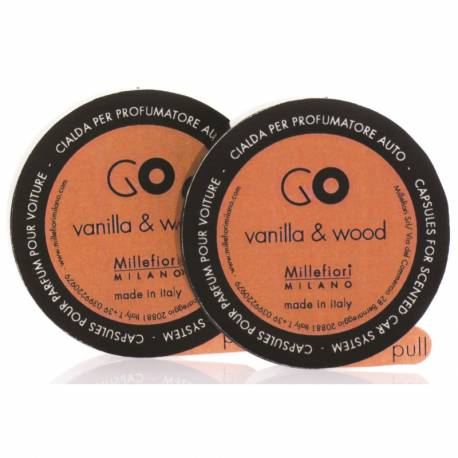 Vanilla & Wood Refill GO – Autoduft Millefiori 2er Pack