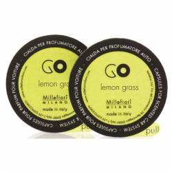 Lemon Grass Refill GO – Autoduft Millefiori 2er Pack