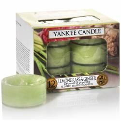 Yankee Candle Teelichter 12er Pack Lemongrass & Ginger