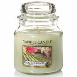 Yankee Candle Jar Glaskerze mittel 411g Lemongrass & Ginger