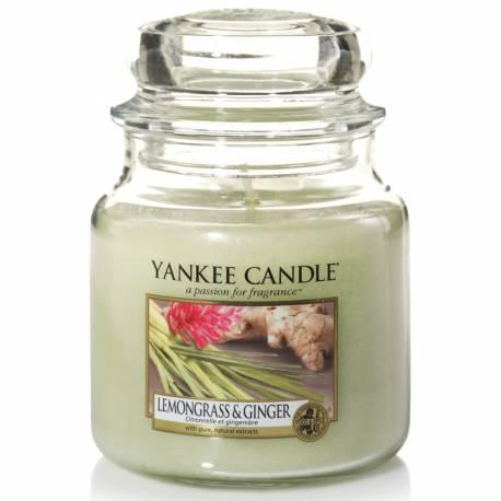 Yankee Candle Jar Glaskerze mittel 411g Lemongrass & Ginger