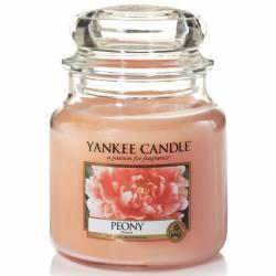 Yankee Candle Jar Glaskerze mittel 411g Peony