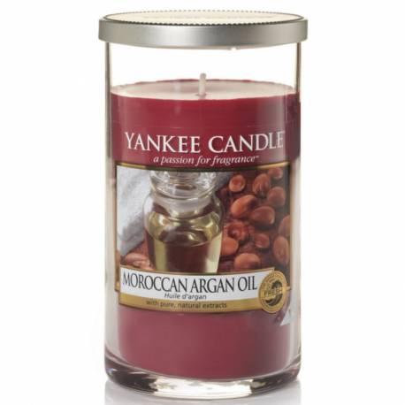 Yankee Candle Pillar Glaskerze mittel 340g Moroccan Argan Oil