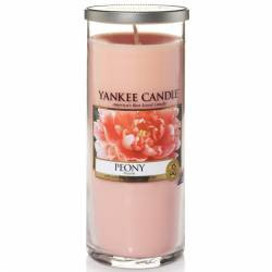 Yankee Candle Pillar Glaskerze gross 566g Peony