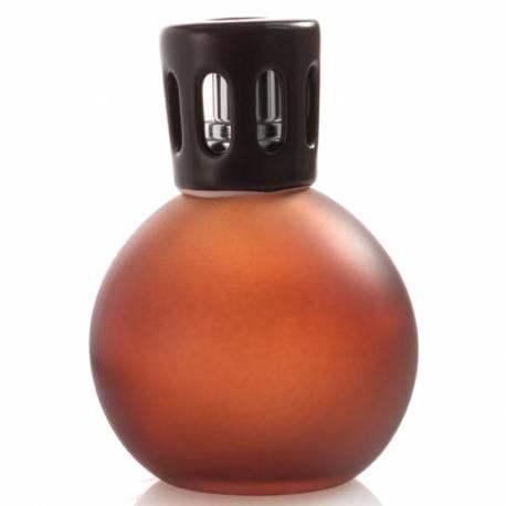 Katalytische Duftlampe Millefiori Lampair Kugel Glas klein braun