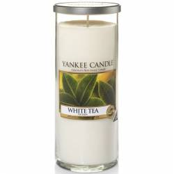 Yankee Candle Pillar Glaskerze gross 566g White Tea