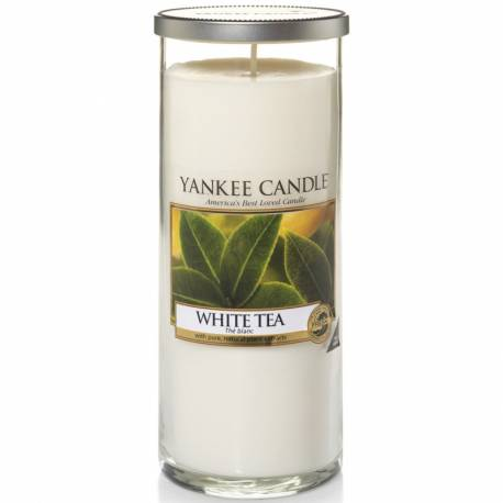 Yankee Candle Pillar Glaskerze gross 566g White Tea