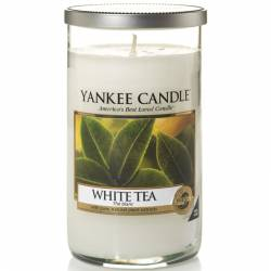 Yankee Candle Pillar Glaskerze mittel 340g White Tea