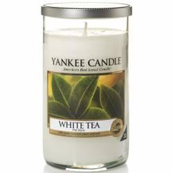 Yankee Candle Pillar Glaskerze mittel 340g White Tea