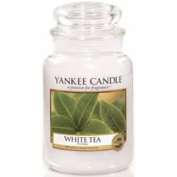 Yankee Candle Jar Glaskerze groß 623g White Tea