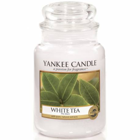 Yankee Candle Jar Glaskerze groß 623g White Tea