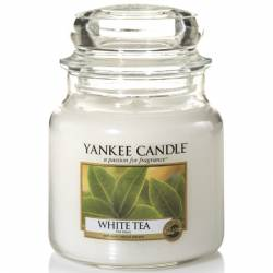 Yankee Candle Jar Glaskerze mittel 411g White Tea