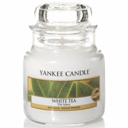 Yankee Candle Jar Glaskerze klein 104g White Tea