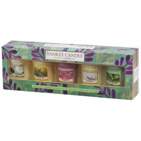 Yankee Candle Geschenk-Set Pure Essence Sampler / Votive 5er