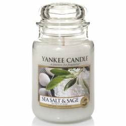 Yankee Candle Jar Glaskerze groß 623g Sea Salt & Sage