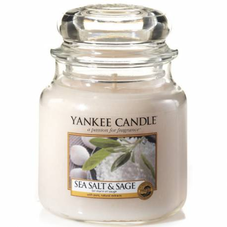 Yankee Candle Jar Glaskerze mittel 411g Sea Salt & Sage