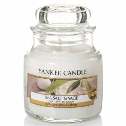 Yankee Candle Jar Glaskerze klein 104g Sea Salt & Sage