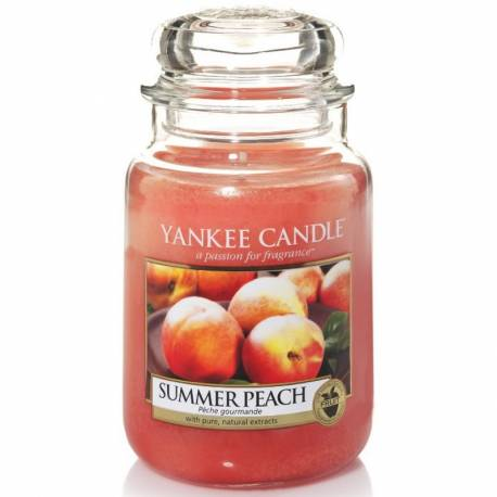 Yankee Candle Jar Glaskerze groß 623g Summer Peach