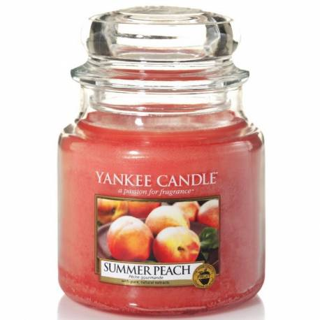 Yankee Candle Jar Glaskerze mittel 411g Summer Peach