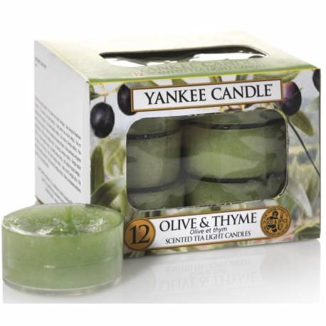 Yankee Candle Teelichter 12er Pack Olive & Thyme