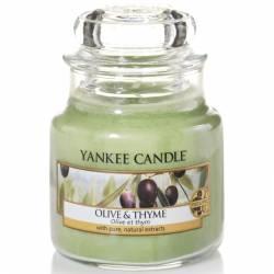 Yankee Candle Jar Glaskerze klein 104g Olive & Thyme