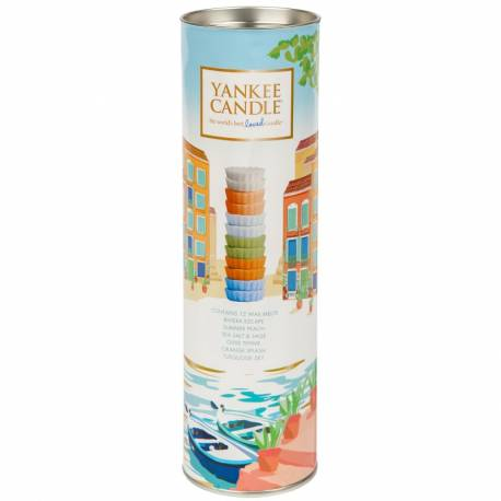 Yankee Candle Geschenk-Set Riviera Escape Tart / Melt Tube 12er